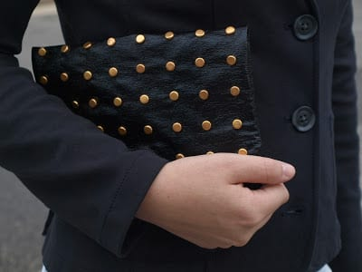 Studded Leather Foldover Clutch FREE Tutorial