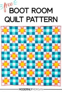 Boot Room Quilt Free Pattern and Tutorial