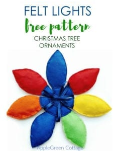 Cute Christmas Lights Ornaments FREE Sewing Pattern