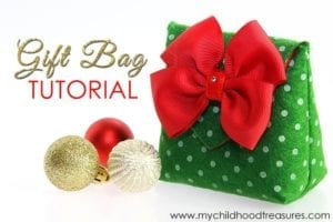Felt Gift Bag Free Pattern