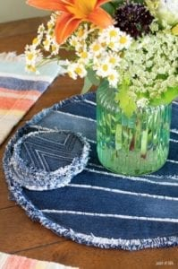Denim DIY Placemats FREE Sewing Tutorial