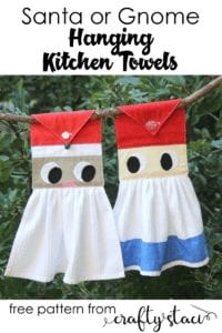 Hanging Kitchen Towels FREE Sewing Pattern