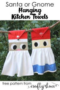 Hanging Kitchen Towels FREE Sewing Pattern