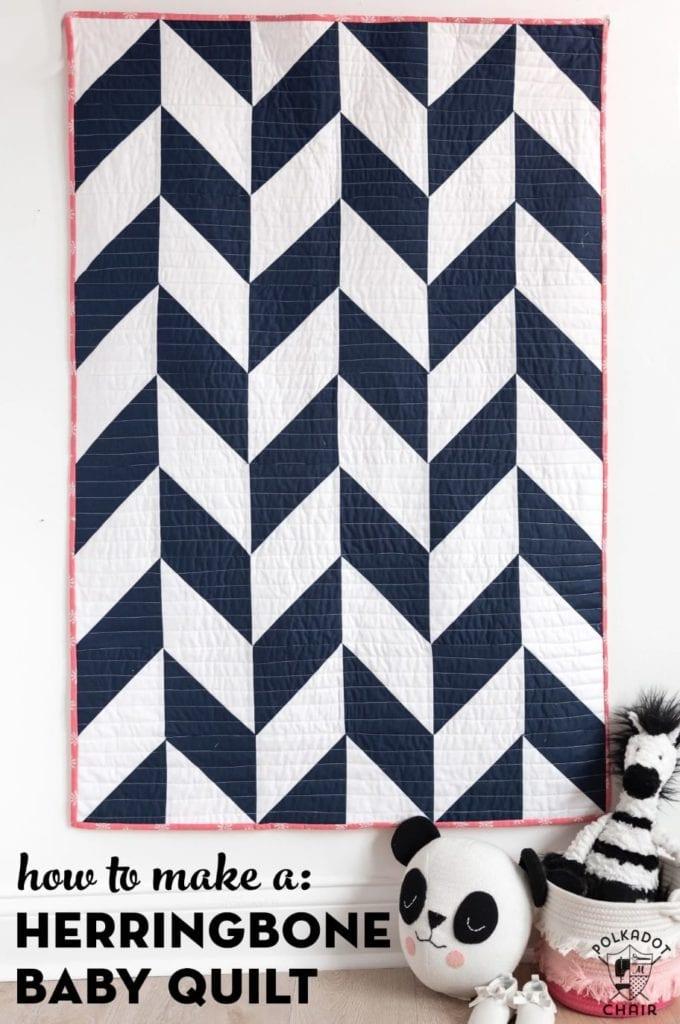 Herringbone Baby Quilt FREE Pattern