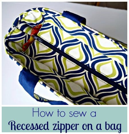 How to Sew a Recessed Zipper on a Bag