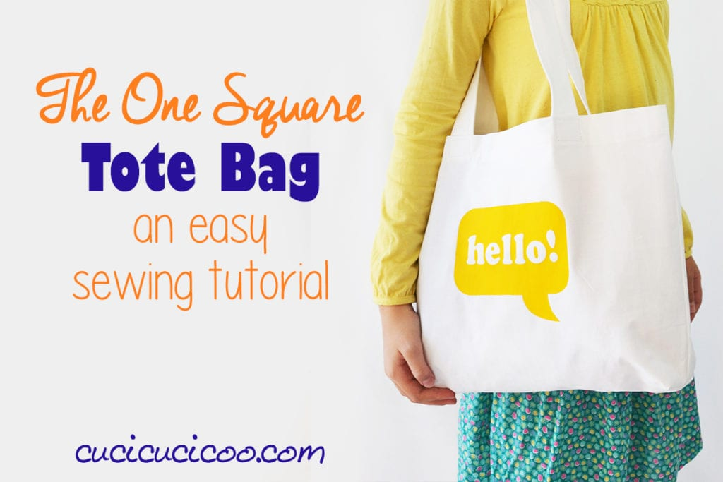 Square Tote free sewing tutorial