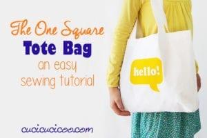 square tote bag free sewing tutorial