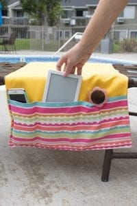 Pool lounge organizer free sewing tutorial