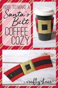 Santa belt coffee cozy free pattern