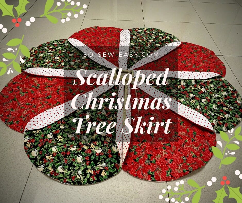 Scalloped Christmas Tree Skirt Pattern