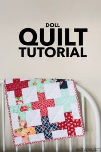 Doll Quilt Free Tutorial