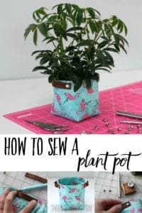 Fabric Plant Pot FREE Sewing Tutorial