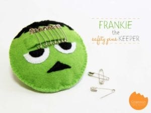 Frankenstein Safety Pin Holder FREE Sewing Tutorial