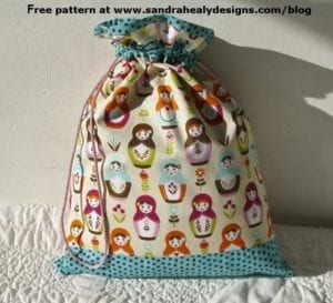 Free Drawstring Bag FREE Pattern