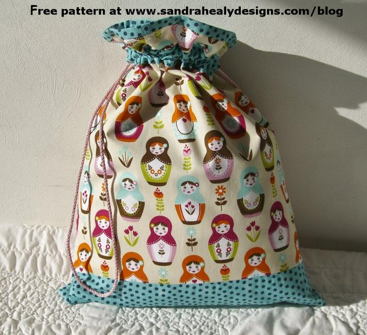 Drawstring Bag FREE Pattern