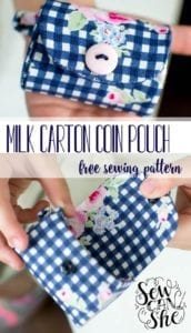 Milk Cartoon Coin Purse free sewing pattern