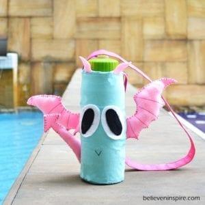Pink Wings Dragon Bottle Cover Tutorial