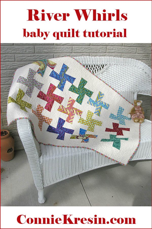 River Whirls Baby Quilt FREE Tutorial