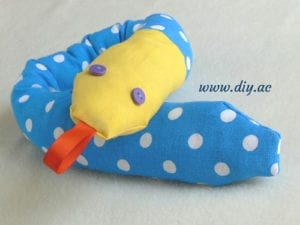 Stuffed Snake FREE Sewing Pattern