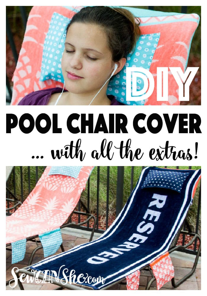 Pool Chair Covers FREE Sewing Tutorial