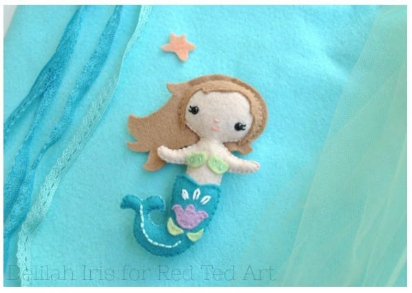 Little Felt Mermaid FREE Sewing Pattern