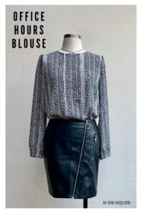 Office Hours Blouse FREE Sewing Pattern