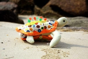Turtle Pincushion Free Sewing Pattern