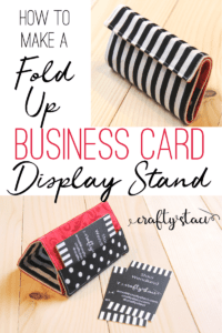 business card display stand free tutorial