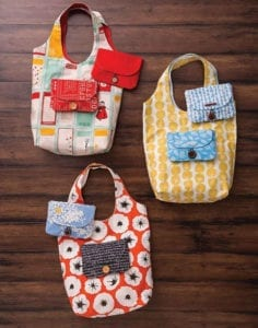 Folding Shopping Bag and Pouch FREE Sewing Tutorial