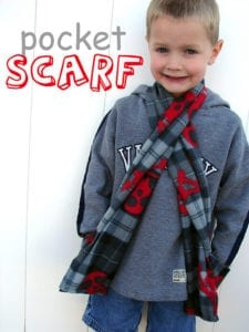 Scarf with Pockets FREE Sewing Tutorial
