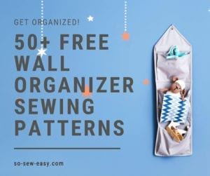 wall organizer free sewing patterns