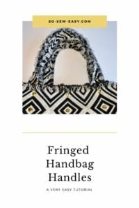 fringed handles for handbags