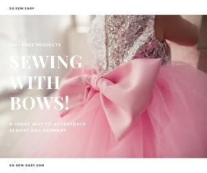 Bows free sewing tutorials