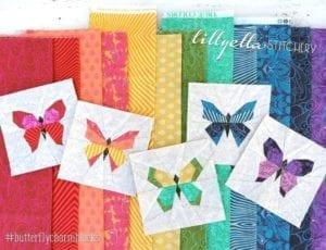 Butterfly Charm Blocks FREE Pattern