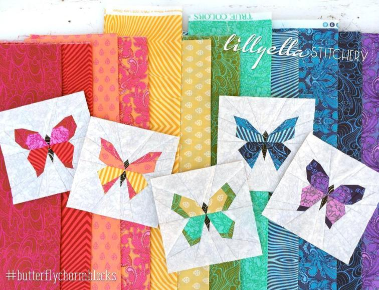 Butterfly Charm Blocks FREE Pattern