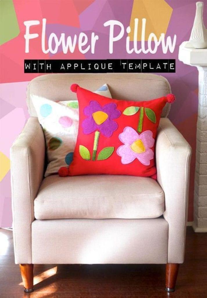 Flower Pillow Applique