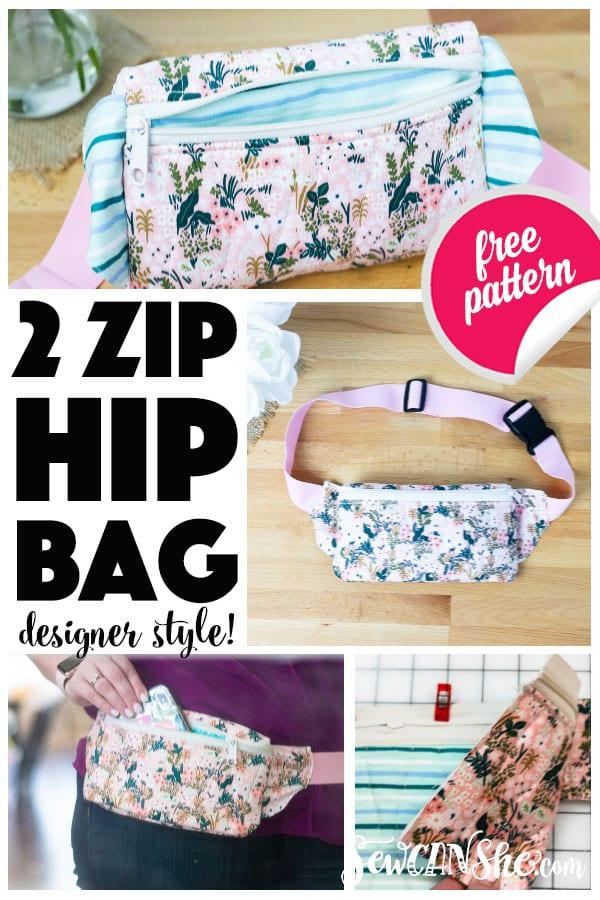 Hip Bag Free Sewing Pattern