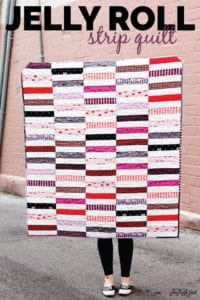 Jelly Roll Strip Quilt FREE Tutorial