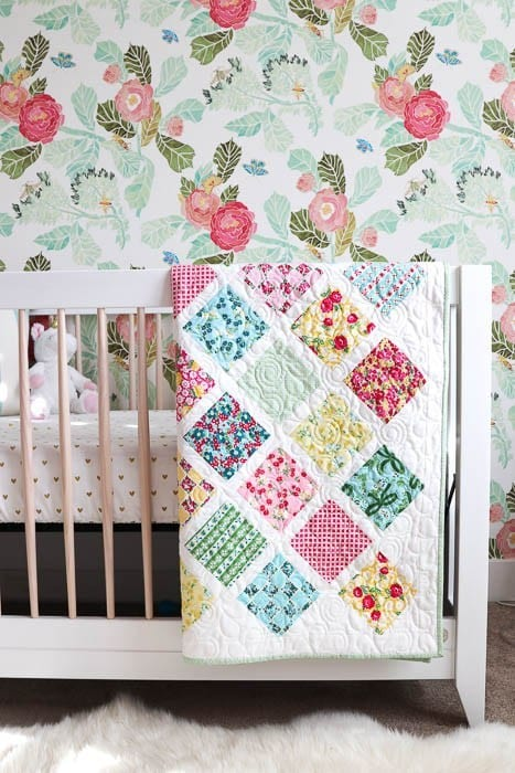 Lattice Baby Quilt FREE Tutorial