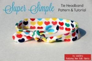 Simple Tie Headband FREE Sewing Pattern
