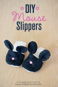Mouse Slippers FREE Sewing Tutorial