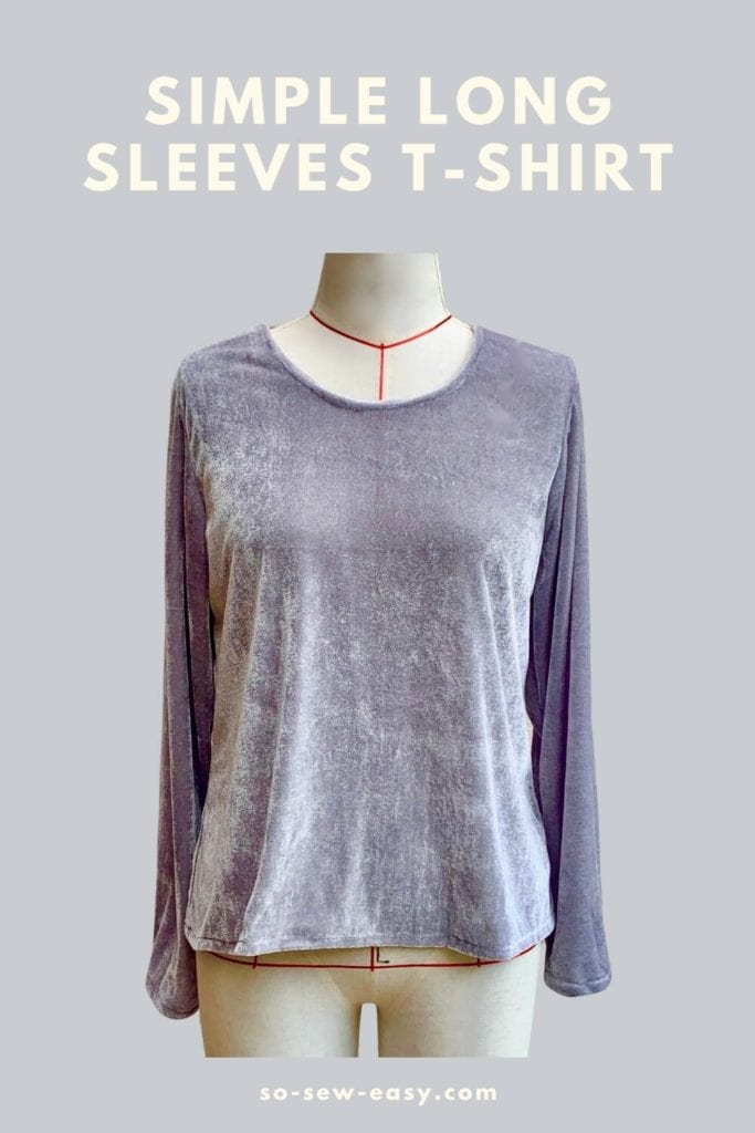 Long Sleeves T-Shirt Free Sewing Pattern