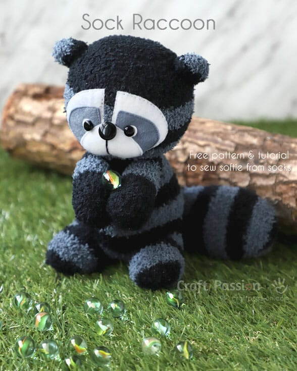 Sock Raccoon FREE Sewing Pattern