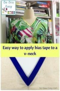 Apply Bias Tape to a V-neck Tutorial