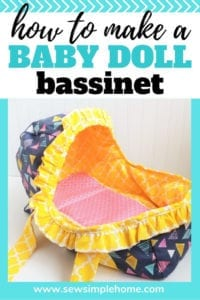 Baby Doll Bassinet FREE Sewing Pattern