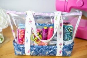 Vinyl Tote Free Sewing Pattern