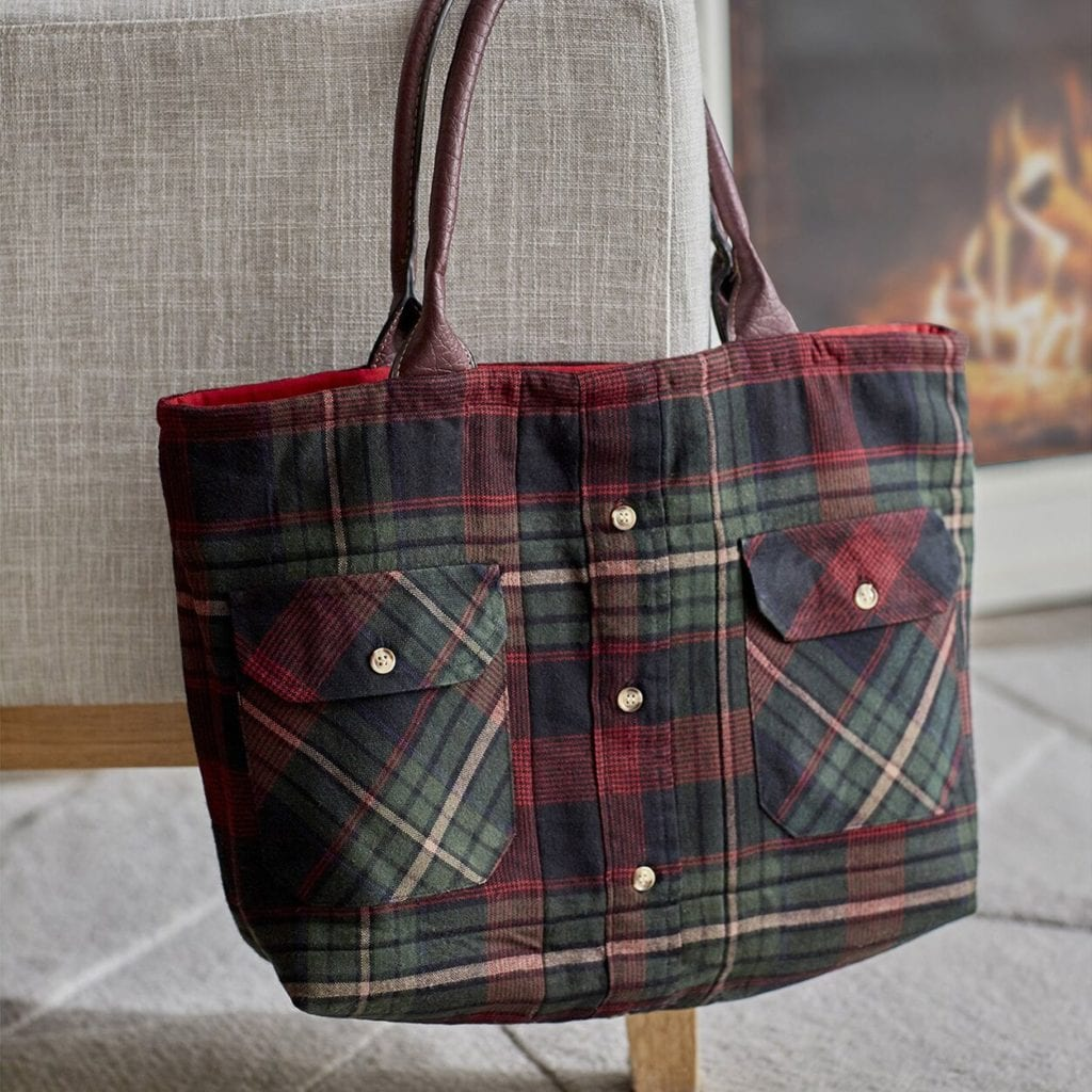Flannel Tote Bag Free Sewing Tutorial