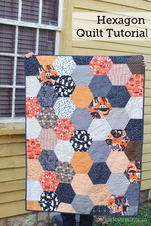Large Hexagon Quilt FREE Tutorial