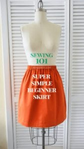 Simple Skirt FREE Sewing Tutorial