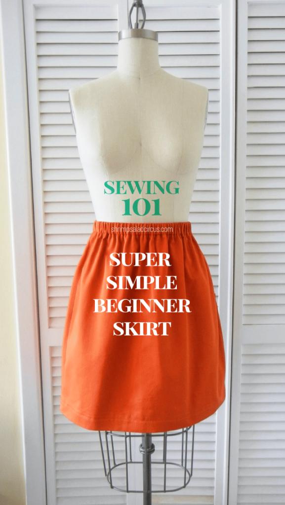 Simple Skirt FREE Sewing Tutorial